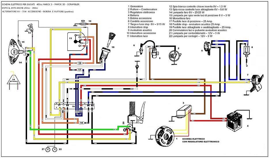 Schemi Elettrici Impianti : Schaltplan ducati einzylinder zweizylinder
